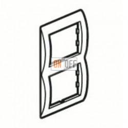 Рамка двойная, для вертикального монтажа Legrand Galea Life, зеленый металл 771926