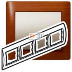 Рамка четверная, для горизонтального монтажа Legrand Galea Life, вишня 771974