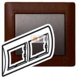 Рамка двойная, для горизонтального монтажа Legrand Galea Life, темная кожа 771996