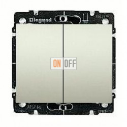 Выключатель двухклавишный, проходной (вкл/выкл с 2-х мест) 10 А / 250 В~ 775808 - 771512