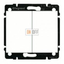 Выключатель двухклавишный, проходной (вкл/выкл с 2-х мест) 10 А / 250 В~ 775808 - 777012