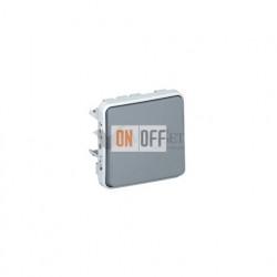 Кнопочный выключатель (Н.О.+Н.З. контакты) 10А IP55 Legrand Plexo, серый 69541