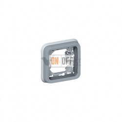 Рамка с суппортом для встроенного монтажа, 1 пост IP55 Legrand Plexo, серый 69681