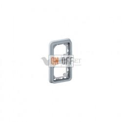 Рамка с суппортом для встроенного монтажа, 2 поста вертикальная IP55 Legrand Plexo, серый 69685