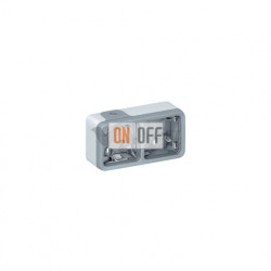 Коробка для накладного монтажа, 2 поста горизонтальная IP55 Legrand Plexo, серый 69672