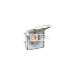 Розетка с/з с крышкой, безвинтовой зажим 16 A, 250 В IP55 Legrand Plexo, белый 69640