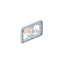 Рамка с суппортом для встроенного монтажа, 2 поста горизонтальная IP55 Legrand Plexo, серый 69683