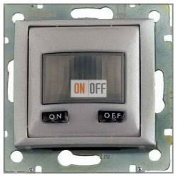 Датчик движения с нейтралью, 1000Вт, с N-клемой (3-х проводная схема подключения), алюминий 770289