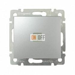 Выключатель одноклавишный с подсветкой 10 А / 250 В~, алюминий 770110
