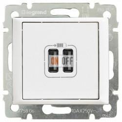 Розетка USB двойная, белый глянец 770470