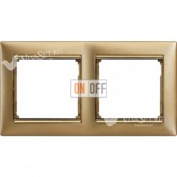 Рамка двойная Legrand Valena матовое золото 770302