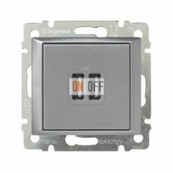 Розетка USB двойная, алюминий 770270