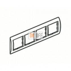 Рамка четверная, для горизонтального монтажа Legrand Valena, алюминий 770154
