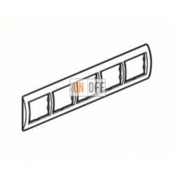 Рамка пятерная, для горизонтального монтажа Legrand Valena, алюминий 770155