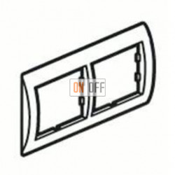 Рамка двойная, для горизонтального монтажа Legrand Valena, алюминий/серебро 770352
