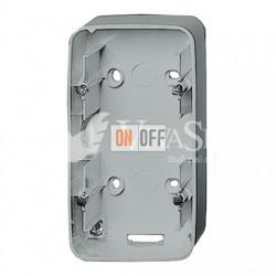 Двухместная коробка для накладного монтажа Valena Allure, алюминий 755572
