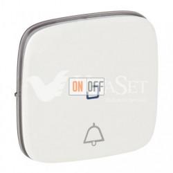 Кнопочный выключатель с символом звонок c подсветкой  6 A - 250 В, Valena Allure белый 752011 - 67686 - 755090