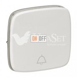 Кнопочный выключатель с символом звонок  6 A - 250 В, Valena Allure перламутр 752011 - 755019