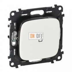 Кнопочный выключатель с подсветкой 6 A - 250 В, Valena Allure белый 752011 - 67686 - 755085