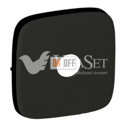 Переключатель 1 клавишный 10 AX - 250 В со встроенным датчиком движения 160°   Valena Allure матовый черный 752065 - 752078
