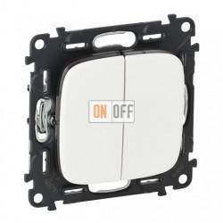 Выключатель двухклавишный  10 AX - 250 В, Valena Allure белый 752005 - 755025
