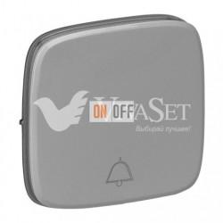 Кнопочный выключатель с символом звонок  6 A - 250 В, Valena Allure алюминий 752011 - 755017