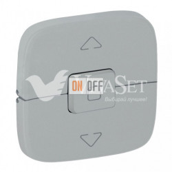 Кнопочный выключатель управления для жалюзи и рольставней 10 A – 250 В Valena Allure, алюминий 752030 - 755147