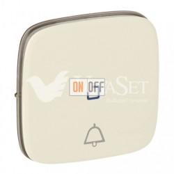 Кнопочный выключатель с символом звонок c подсветкой  6 A - 250 В, Valena Allure слоновая кость 752011 - 67686 - 755091
