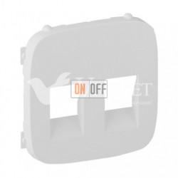 Розетка двойная  акустическая  с пружинными зажимами Valena Allure, белый 753078 - 755375