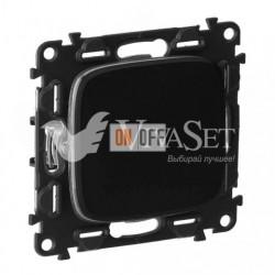 Выключатель одноклавишный перекрестный (из 3-х мест)  10 AX - 250 В, Valena Allure матовый черный 752007 - 755078