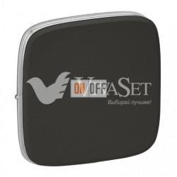 Кнопочный выключатель  6 A - 250 В, Valena Allure темная нержавеющая сталь 752011 - 755113