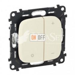 Кнопочный светорегулятор без нейтрали 5-400 Вт Valena Allure, слоновая кость 752062 - 752086