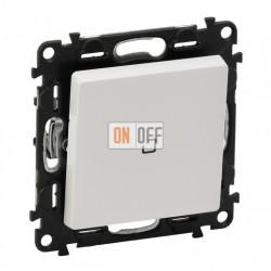 Выключатель одноклавишный перекрестный (из 3-х мест) с подсветкой  10 AX - 250 В, Valena Life белый 752007 - 665090 - 755100