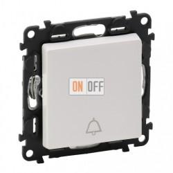 Кнопочный выключатель с символом звонок  6 A - 250 В, Valena Life белый 752011 - 755010