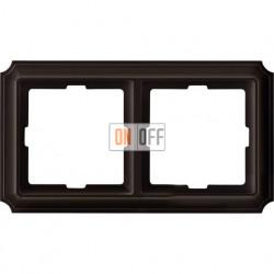 Рамка двойная Merten Antique, коричневая MTN4020-4715