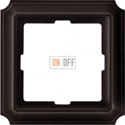 Рамка одинарная Merten Antique, коричневая MTN4010-4715