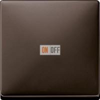 Выключатель одноклавишный перекрестный (вкл/выкл с 3-х мест) 10 А / 250 В~, цвет коричневый MTN3117-0000 - MTN3300-4015