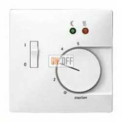 Термостат 230 В~ 10А с выносным датчиком для электрического подогрева пола механизм Eberle FRe 525 22 - MTN537519