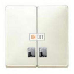 Выключатель двухклавишный с подсветкой, 10 А / 250 В~ MTN3135-0000 - MTN413544