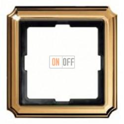 Рамка одинарная Merten Antique, блестящая латунь MTN483121