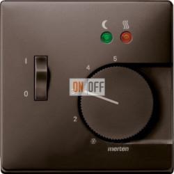 Термостат 230 В~ 10А с выносным датчиком для электрического подогрева пола механизм Eberle, цвет коричневый FRe 525 22 - MTN5760-4015