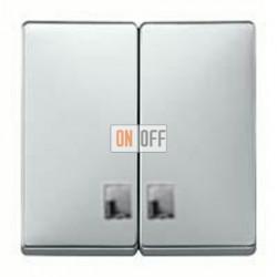 Выключатель двухклавишный с подсветкой, 10 А / 250 В~ MTN3135-0000 - MTN413560