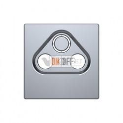 Розетка TV FM проходная, диапазон частот от 4 до 2400 MГц Merten D-life, нержавеющая сталь MTN466098 - MTN4123-6036