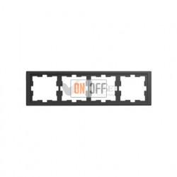 Рамка четверная Merten D-life антрацит MTN4040-6534