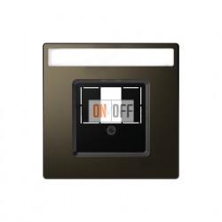 Аудиорозетка двойная для колонок Merten D-life, мокко металл MTN467019 - MTN4250-6052