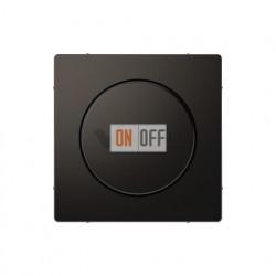 Светорегулятор поворотно-нажимной 40-400 Вт. для ламп накаливания и галог.220В Merten D-life, антрацит MTN5131-0000 - MTN5250-6034