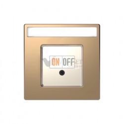 Розетка USB двойная для зарядки Merten D-life, шампань металл MTN4366-0000 - MTN4250-6051