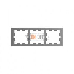 Рамка тройная Merten D-life нержавеющая сталь MTN4030-6536