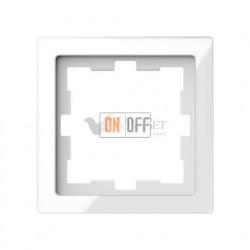 Рамка одинарная Merten D-life белый кристалл, стекло MTN4010-6520