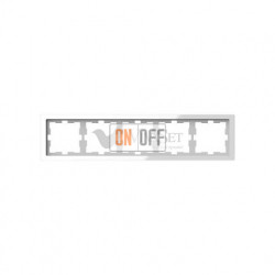 Рамка пятерная Merten D-life белый кристалл, стекло MTN4050-6520
